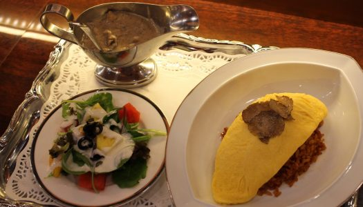 "GINZA Futaba fruits parlor ""Cream omelet with truffle and mushroom"""
