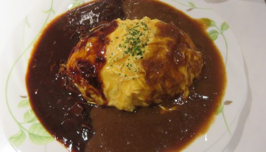 "GINZA Cafe Bar yu's ""2 taste Omelette rice"""